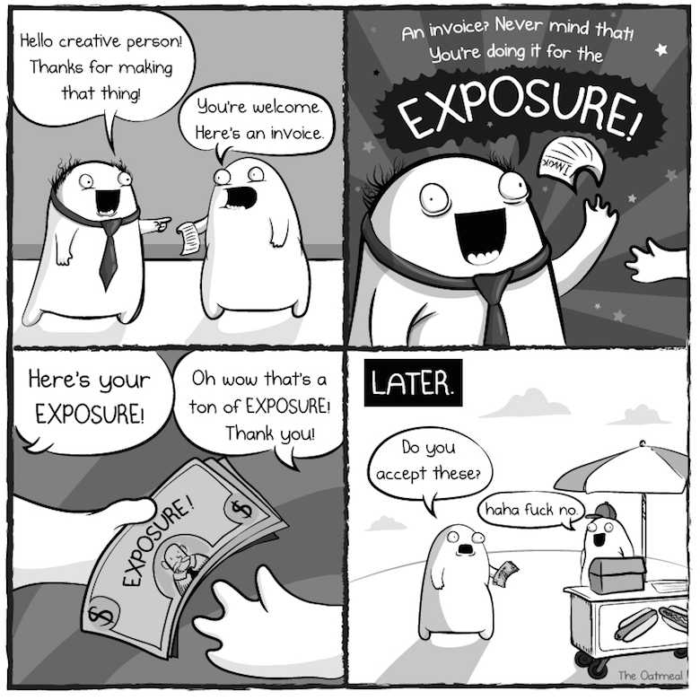 Comit strip about exposure
